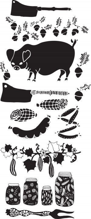 Pork and Pickle Progression for Dai Due illustration by Annie Taylor