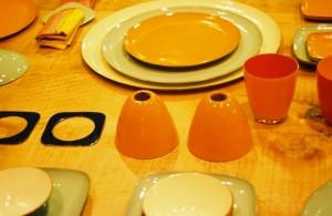 Visual Merchandising 'Gardens' Retail Shop, Austin, Texas Enamel Tabletop Accessories