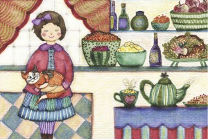 Kitchen illustration by Annie Taylor