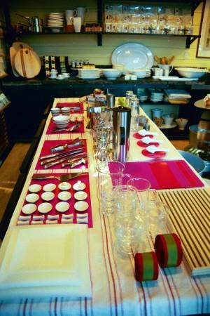 Visual Merchandising 'Gardens' Retail Shop, Austin, Texas Holiday Farmhouse Table Plastic Plates