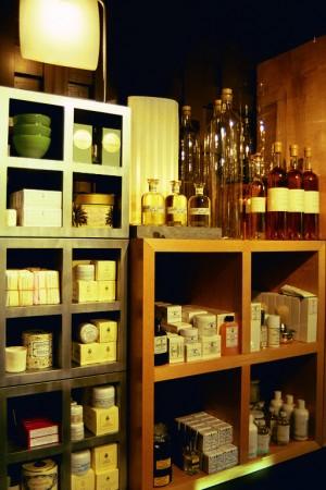 Visual Merchandising 'Gardens' Retail Shop, Austin, Texas Bath Area with Santa Maria Novella