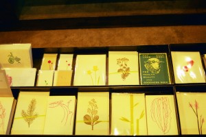 Visual Merchandising 'Gardens' Retail Shop, Austin, Texas Metal Tray with Peter Kruty Edition Cards