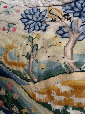 Fresh Configurations Longridge Look Book Needle Point Pillow, Forest Scene