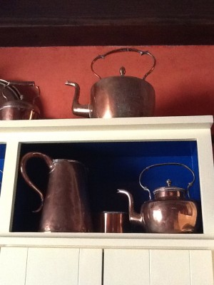 Fresh Configurations Longridge Lookbook Collected Copper on Kitchen Shelves