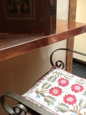 Fresh Configurations Longridge Lookbook Copper Counter with Bar Chair