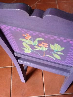 Fresh Configurations Longridge Lookbook Handpainted Chair by Sandra Mahan