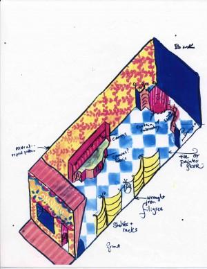 Interior Design Drawing Empty Shop for Annie's Omnium