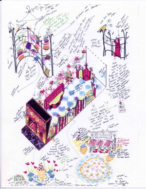 Interior Design of Christmas Merchandise for Annie's Omnium