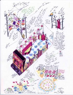 Interior Design of Christmas Merchandise for Annie's Omnium