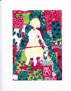 Christmas Shop Girl for Annie's Omnium illustrated by Annie Taylor
